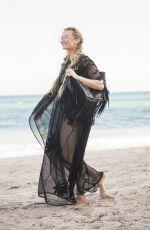 MARINA ACTON at a Beach in Miami 12/11/2017