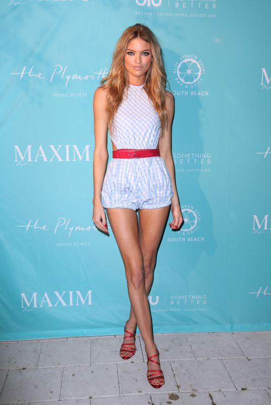 MARTHA HUNT at Maxim Magazine, December Issue Party in Miami 12/08/2017