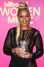 MARY J. BLIGE at 2017 Billboard Women in Music Awards in Los Angeles 11/30/2017