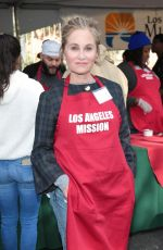 MAUREEN MCCORMICK at LA Mission Serves Christmas to the Homeless in Los Angeles 12/22/2017