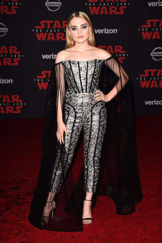 MEG DONNELLY at Star Wars: The Last Jedi Premiere in Los Angeles 12/09/2017
