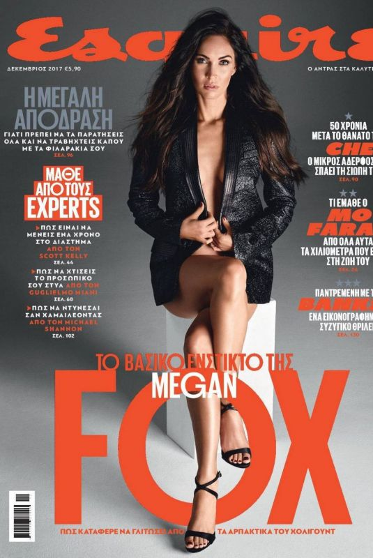 MEGAN FOX for Esquire Magazine, Greece December 2017 Issue