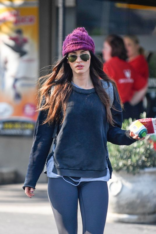 MEGAN FOX Leaves Pinz Bowling Alley in Studio City 12/18/2017