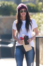 MEGAN FOX Out for Lunch in Malibu 12/13/2017
