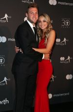 MICHA:A BURNS and Jack Sock at Hopman Cup New Years Eve Players Ball in Perth 12/31/2017