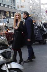 MICHELLE HUNZIKER and AURORA RAMAZZOTTI Out Shopping in Milan 12/22/2017