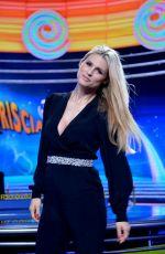 MICHELLE HUNZIKER at Striscia La Notizia Show in Milan 12/04/2017