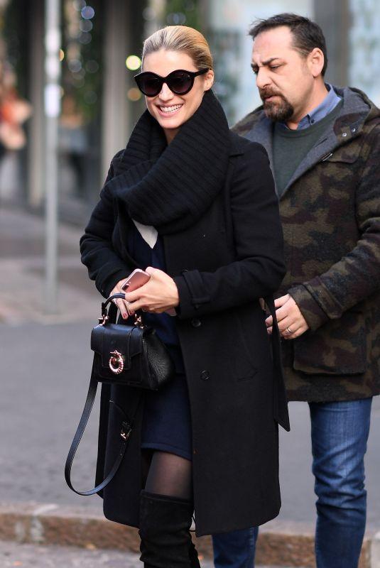 MICHELLE HUNZIKER Leaves Her Home in Milan 12/05/2017