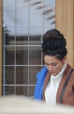 MICHELLE KEEGAN Arrives at Her Home in Essex 12/12/2017