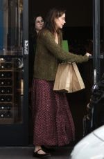 MICHELLE MONAGHAN Out Shopping Wine in Los Angeles 12/01/2017