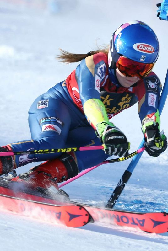 MIKAELA SHIFFRIN at Fis World Cup Giant Slalom in France 12/20/2017