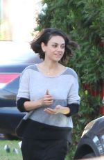 MILA KUNIS Out and About in Los Angeles 11/30/2017
