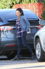 MILA KUNIS Out and About in Los Angeles 12/04/2017