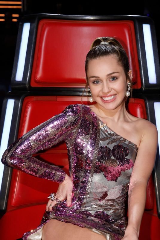 MILEY CYRUS on the Set of The Voice, Season 13 Live Finale, Part 1, 12/18/2017