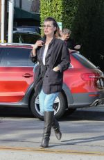 MILLA JOVOVICH Out Shopping in West Hollywood 12/22/2017