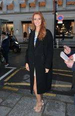 Miss France 2018 MAEVA COUCKE Arrives at Europe 1 Station in Paris 12/18/2017