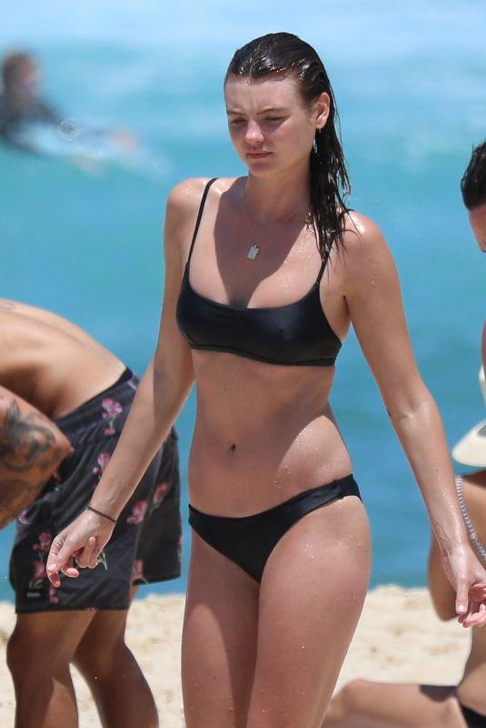 MONTANA COX in Bikini on the Beach in Sydney 12/29/2017