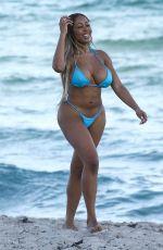 MORIAH MILLS in Bikini at a Beach in Miami 12/19/2017