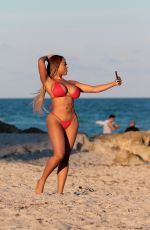 MORIAH MILLS in Bikini at a Beach in Miami 12/27/2017