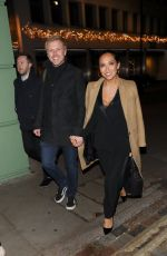 MYLEENE KLASS and Simon Motson at Cantina Larendo in London 11/28/2017