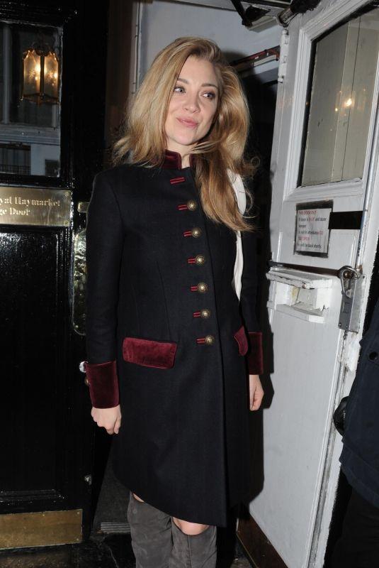 NATALIE DORMER Leaves Venus in Fur Play in London 12/01/2017
