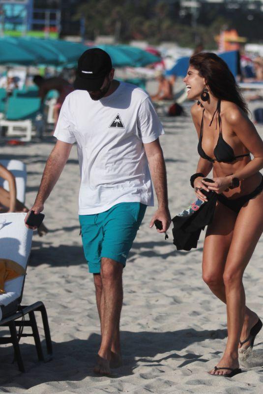 NATALYA ALBERTO in Bikini on the Beach in Miami 12/09/2017
