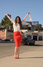 NATASHA BLASICK on the Set of a Photoshoot in Hollywood 12/10/2017