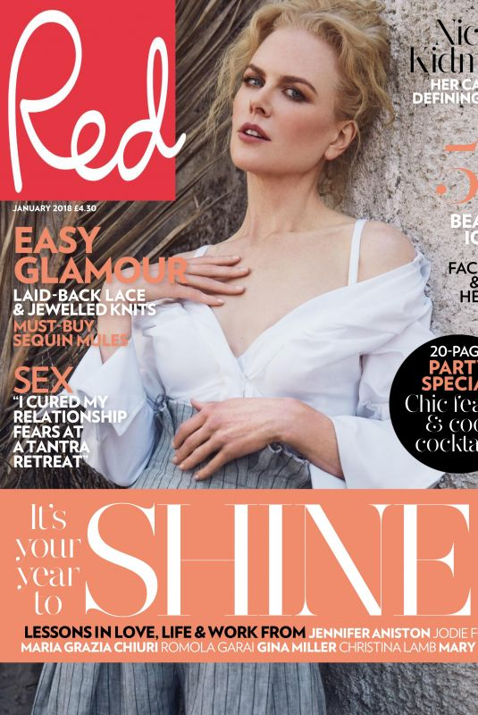 NICOLE KIDMAN in Red Magazine, January 2018