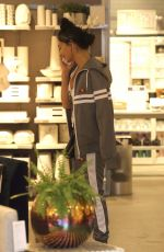 NICOLE SCHERZINGER Shopping at CB2 in West Hollywood 12/09/2017