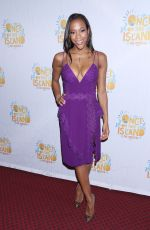NIKKI M. JAMES at Once on This Island Broadway Openingh Night in New York 12/03/2017