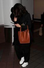 NINA DOBREV at LAX Airport in Los Angeles 12/04/2017
