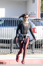 NINA DOBREV Heading to a Gym in Los Angeles 12/05/2017