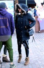 NINA DOBREV Out and About in Aspen 12/28/2017