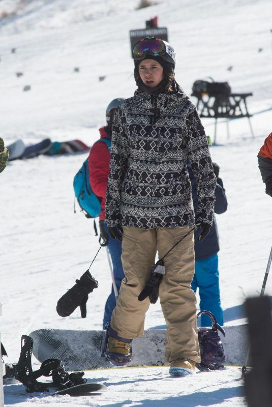 NINA DOBREV Out Snowboarding in Aspen 12/29/2017