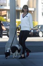 NINA DOBREV Out with Her Dog in Los Angeles 12/01/2017