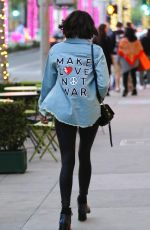 NINA DOBREV Shopping at Rodeo Drive in Beverly Hills 12/19/2017