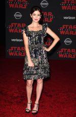 NORA ZEHETNER at Star Wars: The Last Jedi Premiere in Los Angeles 12/09/2017