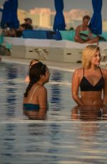 OLIVIA HOLT in Bikini on Vacation in Cancun 12/18/2017