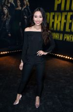 OLIVIA SUI at Pitch Perfect 3 Premiere in Los Angeles 12/12/2017