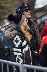 PARIS HILTON and Chris Zylka Out and About in Aspen 12/30/2017