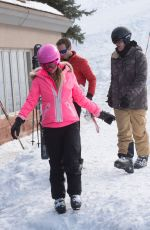 PARIS HILTON and Chris Zylka Out Skiing in Aspen 12/27/2017