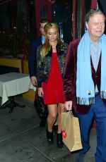 PARIS HILTON Out for Christmas Dinner at Il Piccolino in Beverly Hills 12/24/2017