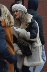 PERRIE EDWARDS Arrivesa at Anfield Stadium in Liverpool 12/30/2017