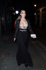 PERRIE EDWARDS Night Out in London 12/10/2017