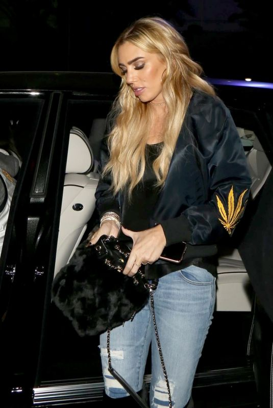 PETRA ECCLESTONE Arrives to Celebrate Kobe Bryant Jersey Retirement at Staples Center in Los Angeles 12/19/2017