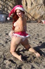 PHOEBE PRICE in Bikini on the Beach in Malibu 12/04/2017