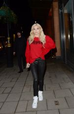 PIA MIA PEREZ Arrives at C Restraunt in London 12/07/2017