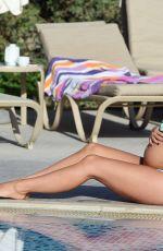 Pregnant CASEY BATCHELOR in Bikini at a Pool in Lanzarote 12/18/2017