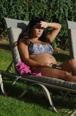 Pregnant CASEY BATCHELOR in Bikini on Vacation in Lanzarote 12/22/2017