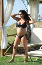 Pregnant CASEY BATCHELOR in Bikini on Vacation in Lanzarote 12/30/2017